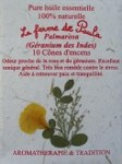 Palmarosa Bio - Cônes d'encens