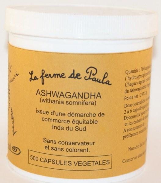 ASHWAGANDHA - 500 capsules
