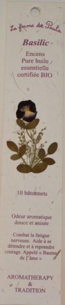 Basilic Bio - Bâtonnets d'encens