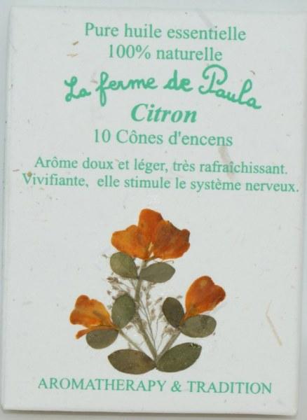 Citron - Cônes d'encens