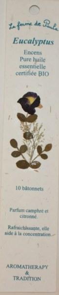 Eucalyptus Bio - Bâtonnets d'encens