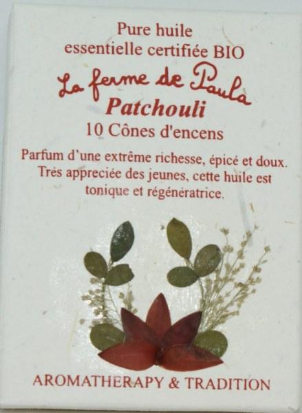 Patchouli Bio - Cônes d'encens