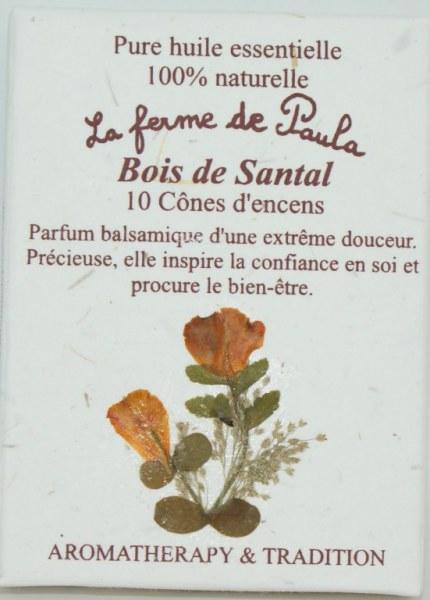 Santal - Cônes d'encens
