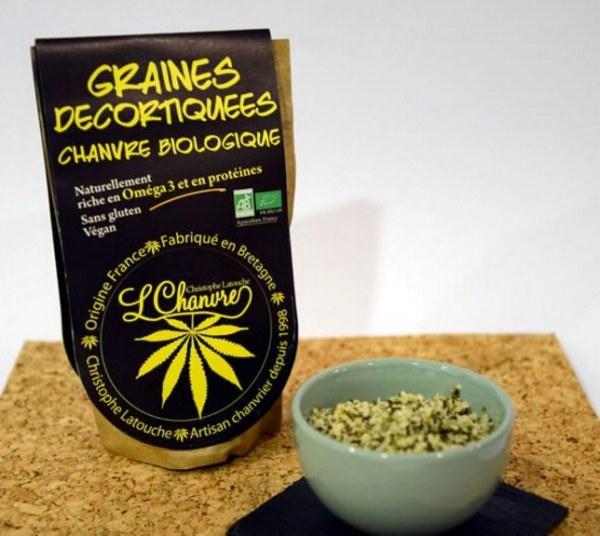 Chanvre biologique français, graines décortiquées. Certifié Bio.