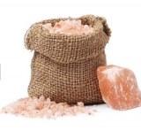SEL ROSE de l'HIMALAYA,sac en kraft qui contient environ 800gr de pur sel rose de l'Himalaya